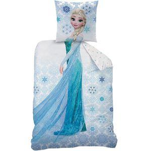 HOUSSE DE COUETTE ET TAIES DISNEY - La Reine des neiges Ice - Parure de couet