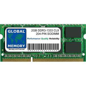 MÉMOIRE RAM 2Go DDR3 1333MHz PC3-10600 204-PIN SODIMM MÉMOIRE