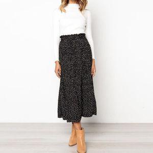 JUPE Femmes Casual Retro taille haute robe à fleurs Jup