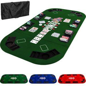 MALETTE POKER Plateau de Poker 160x80cm vert Noir