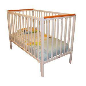 LIT BÉBÉ Lit bébé à barrière coulissante Camille  Orange 60