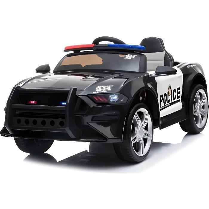 Voiture de police ATAA - Voiture électrique pour enfant avec batterie 12v et télécommande