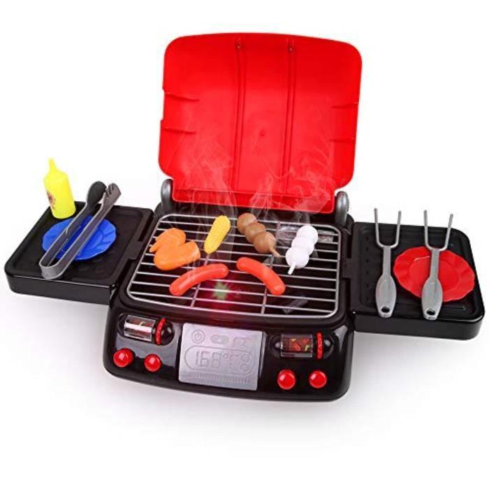 Docteur RKOM0 Jeux de rôles nourriture barbecue Playset cuisine Jouets avec la lumière et de fumée drôle Grill Cociner Jouer Jouet p