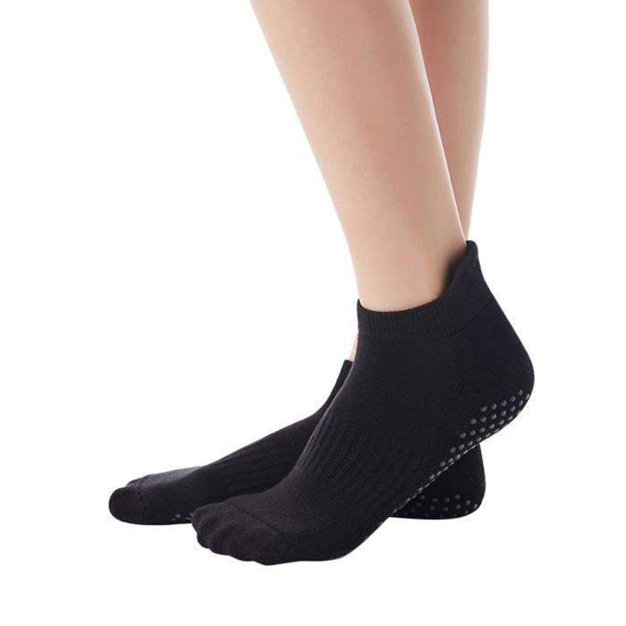 Chaussettes de yoga antidérapantes pour femmes Chaussettes de fitness antidérapantes avec poignées pour femmes