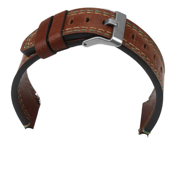 bracelet de montre vendu seul Nouveau bracelet en cuir de luxe Bracelet de montre pour Samsung Galaxy Watch 46mm TZZ80907661DB_non