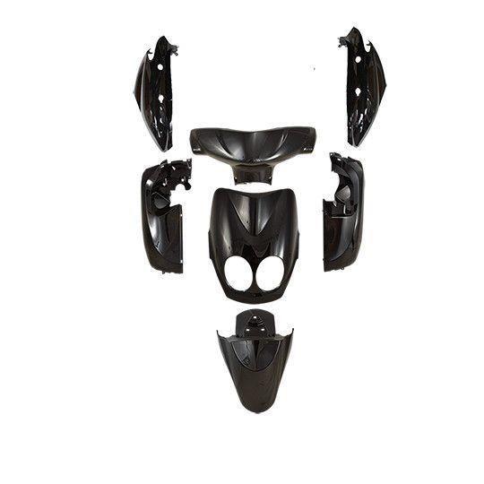 Carrosserie scooter tun'r kit type origine adapt. ovetto/neos 2008-2011 noir (7 pieces)
