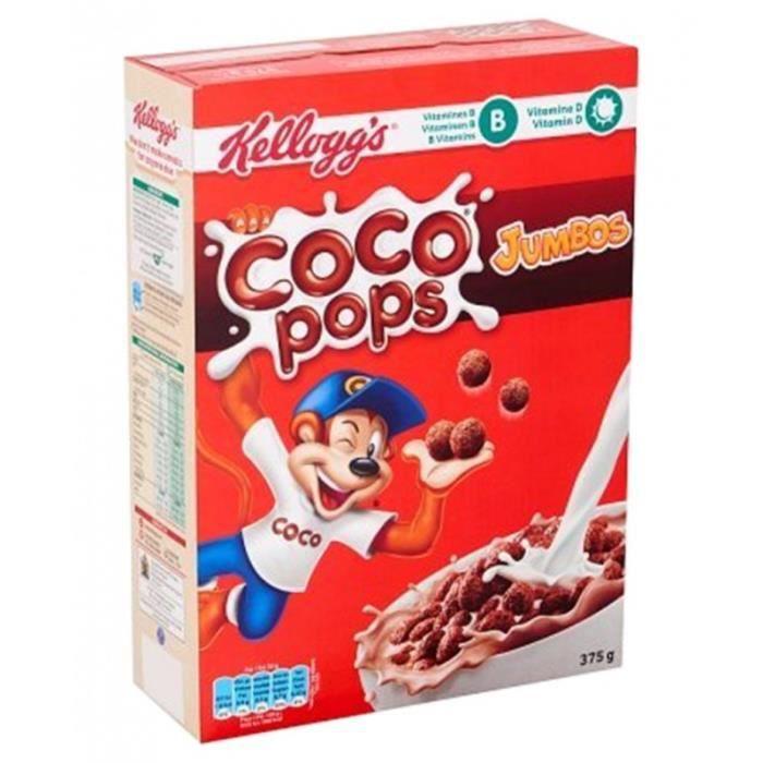 Kellogg's Coco Pops Jumbos 375g (lot de 3 paquets)