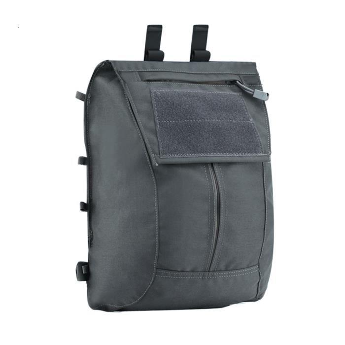 Grey -Pochette tactique à fermeture éclair, pour AVS JPC2.0 CPC gilet sac à dos Airsoft, poack en maille, Magazine intégré, fermetur