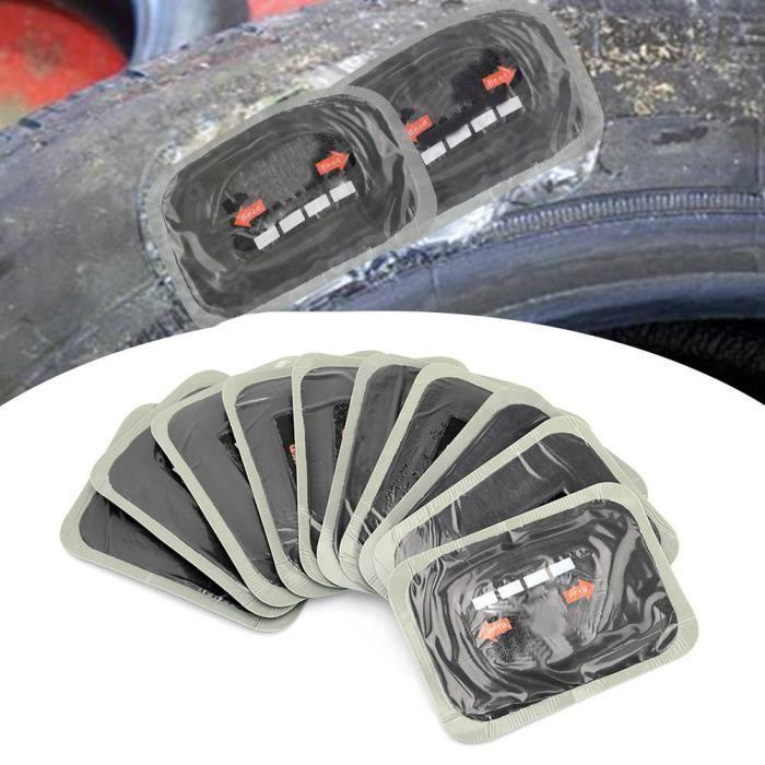 Atyhao Patch de réparation de pneu 10 pièces 80 * 120mm voiture caoutchouc naturel pneu pneu crevaison réparation patch Tubeless
