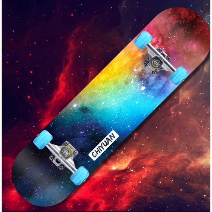 OHP Skateboard professionnel adulte / enfant / jeune de planche à roulettes à quatre roues en érable ,Avec pneus lumineux