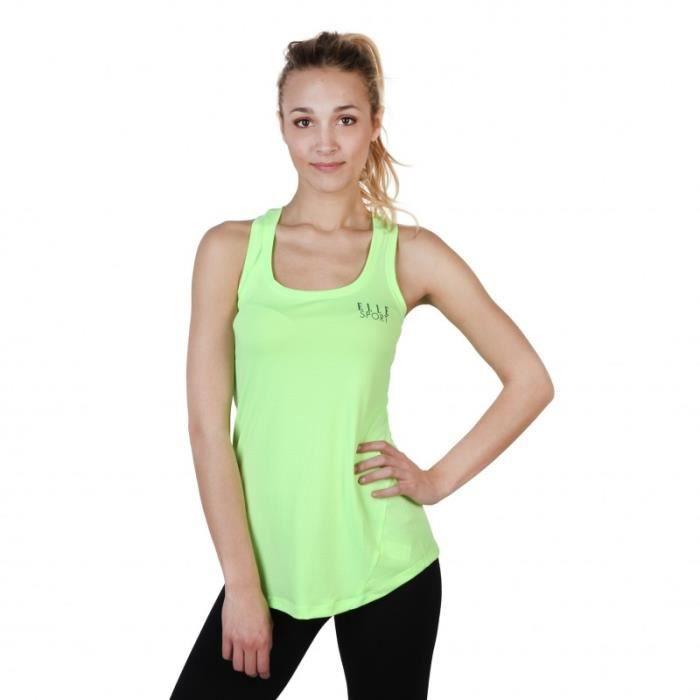 T-Shirt - Elle Sport - Top pour Femme jaune Elle Sport