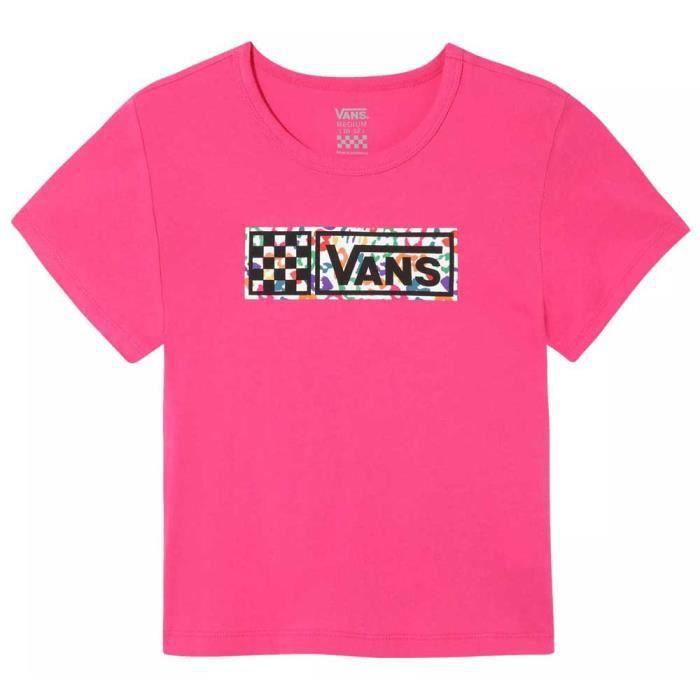 Vêtements fille T-Shirts Vans Rainbow Leopard