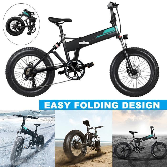 FIIDO M1 VTT Vélo électrique 20x4 pouces Vélo pliable en aluminium 36V 12,5Ah Vélo de montagne 7 vitesses réglables 25 km/h