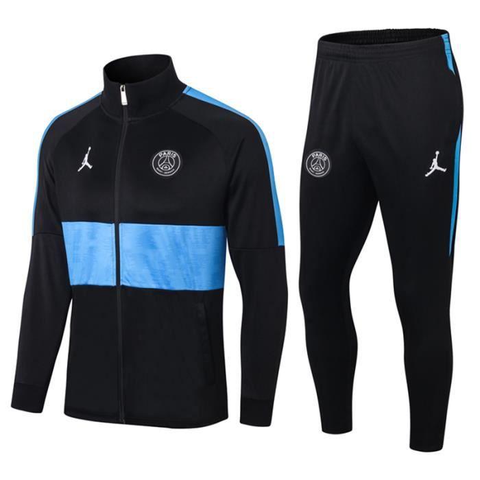 Ensemble Survêtement PSG x Jordan - Maillot de Foot Enfants Homme 2020-21 Ensemble Survêtement Jogging Vêtements de Football