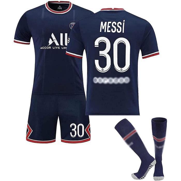 Messi Football Costumet - T-shirt Équipe De Messi Équipe De Paris 30 Domicile Séchage Rapide Et Tissu Respirant Formation