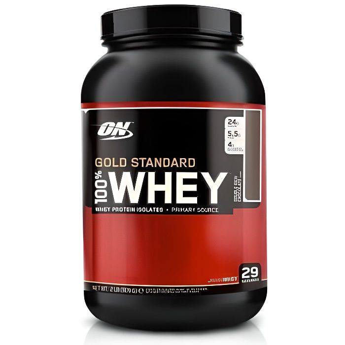 OPTIMUM NUTRITION Pot 100% Whey Gold Standard Chocolat au Lait - 908 gr