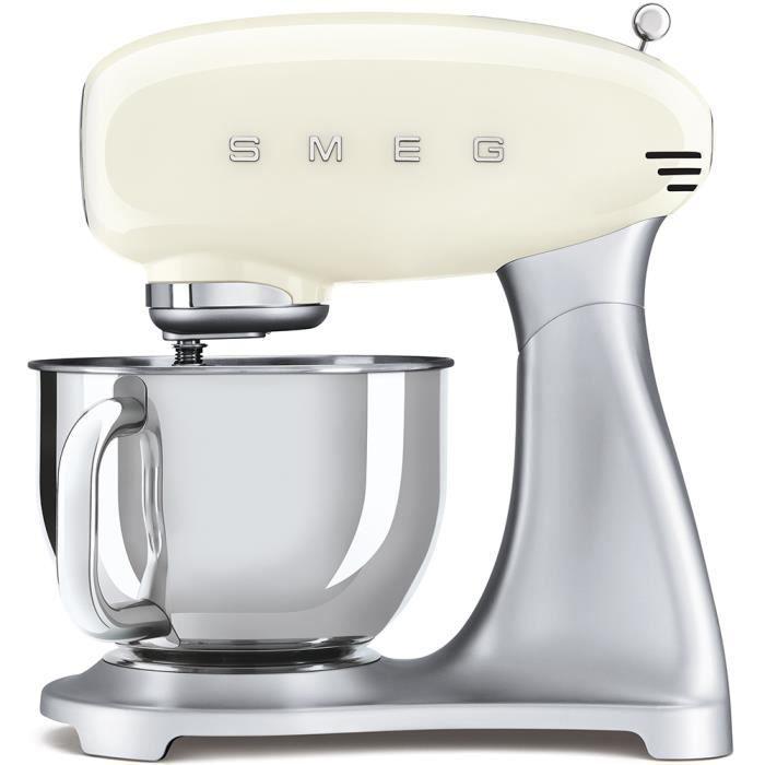 Smeg - robot sur socle 4.8l 800w crème - smf02creu