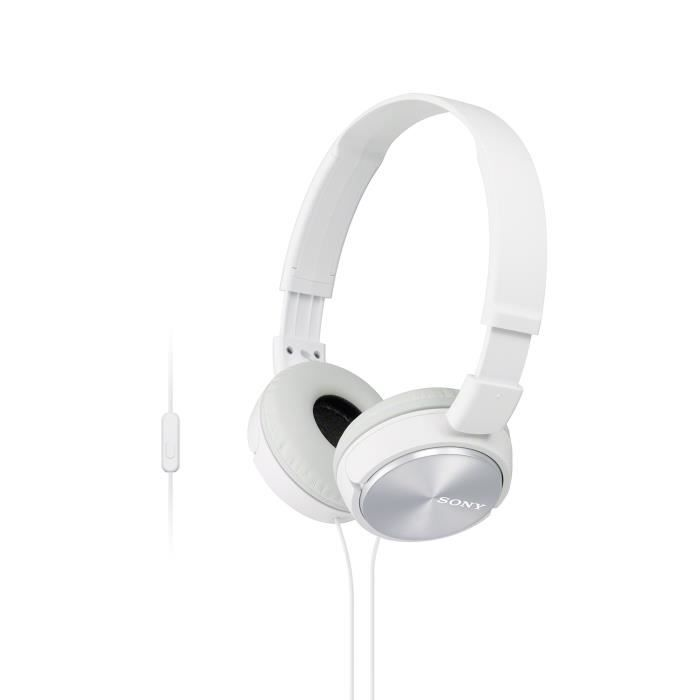 Sony MDR-ZX310APW Casque Pliable avec Microphone - Blanc