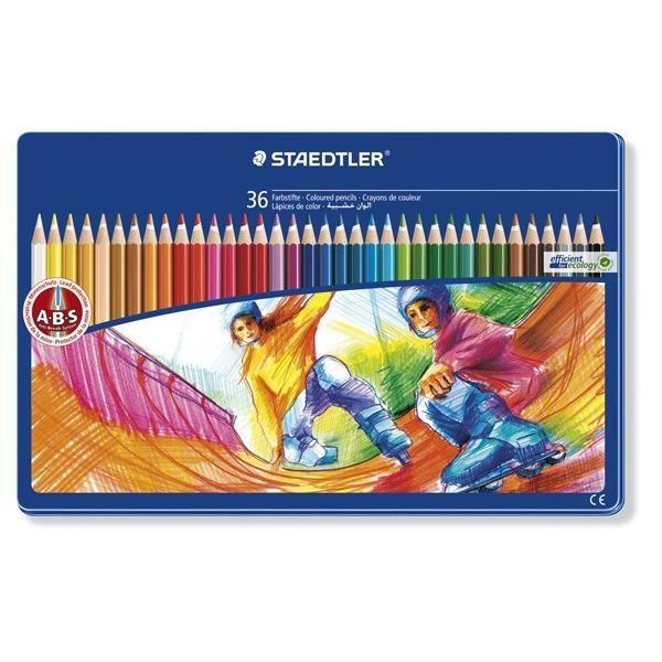 STAEDTLER 36 Crayons de Couleur - Décor Sports