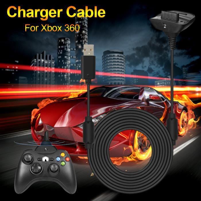 SURENHAP - 1.8m Chargeur de poignée de câble de contrôleur USB pour manette sans fil Xbox 360 11142369