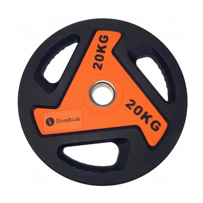 Disque olympique Sveltus 20kg - noir/orange - TU