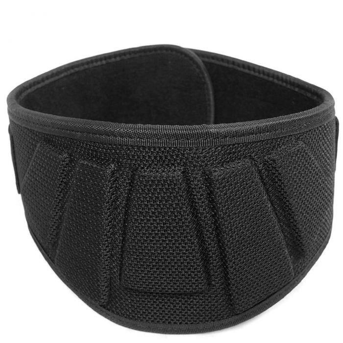 Ceinture de poids Bande d'entraînement de la ceinture de poids de support arrière pour la levée de levage Noir (M)