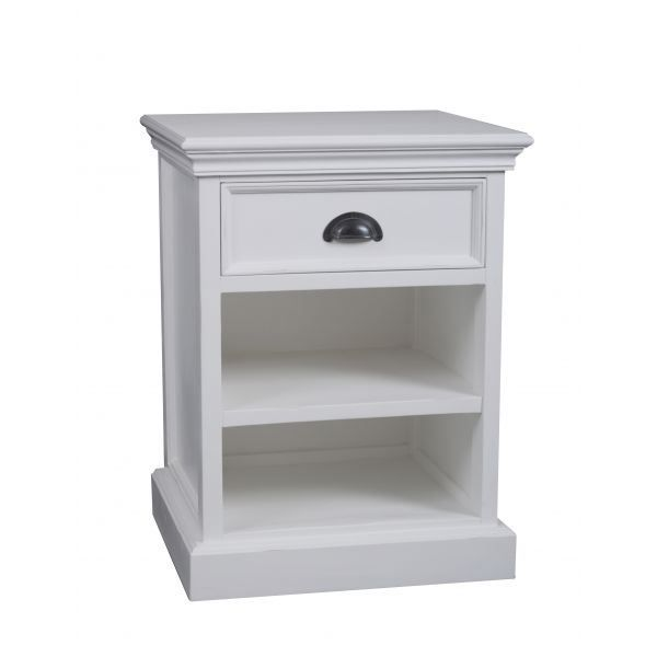 Table de chevet fano 2 compartiments bois massif achat - Table de chevet bois blanc ...