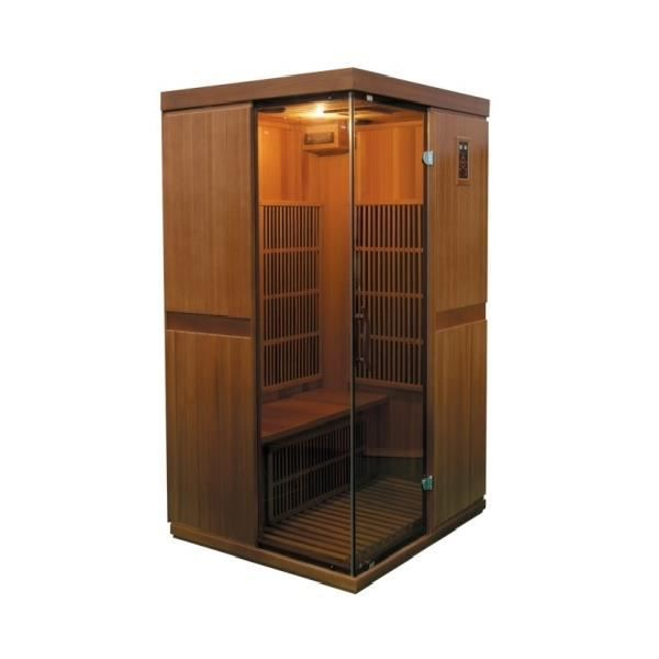 sauna infrarouge bois c dre rouge astral 2 place achat vente local pour pompe sauna. Black Bedroom Furniture Sets. Home Design Ideas