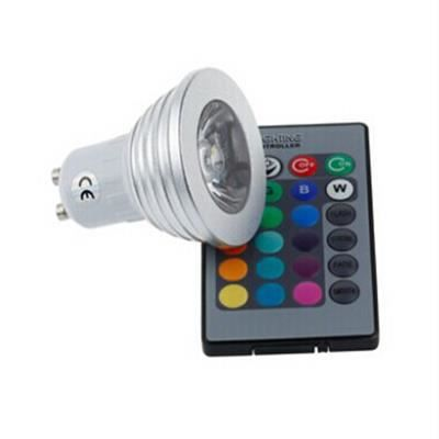 3w rgb e27 led ampoule bulb lampe lumi re 16 couleurs for Lampe led pour exterieur
