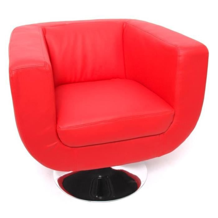 fauteuil design rouge achat vente fauteuil rouge cdiscount. Black Bedroom Furniture Sets. Home Design Ideas