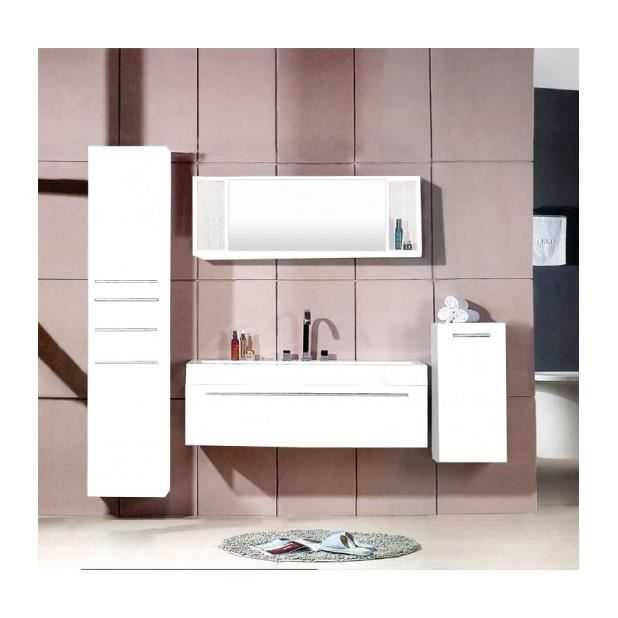 magnifique meuble salle de bain plume blanc ensemble. Black Bedroom Furniture Sets. Home Design Ideas