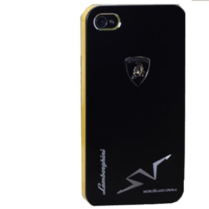 coque lamborghini iphone 5 5s noir aluminium achat coque. Black Bedroom Furniture Sets. Home Design Ideas