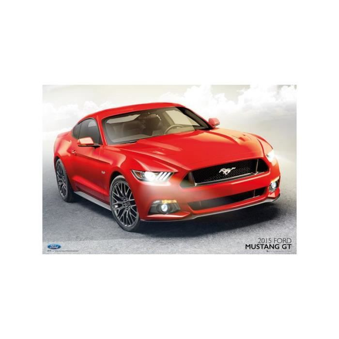 maxi affiche 2015 ford mustang gt achat vente affiche cdiscount. Black Bedroom Furniture Sets. Home Design Ideas