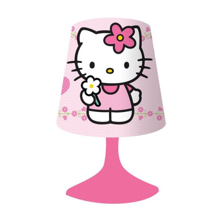 lampe de chevet rose hello kitty achat vente lampe de chevet rose hello cdiscount. Black Bedroom Furniture Sets. Home Design Ideas