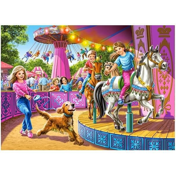PUZZLE Puzzle 120 pièces Spinning Carousels