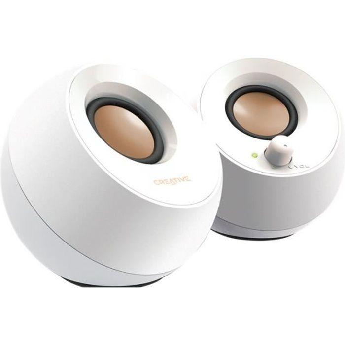 ENCEINTES ORDINATEUR Creative Pebble Haut-parleurs pour PC 4.4 Watt (To