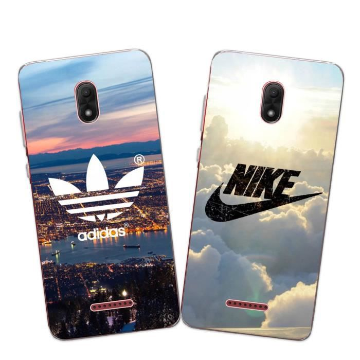 2 X Coque Wiko View Go, Nike et Adidas Doux Souple