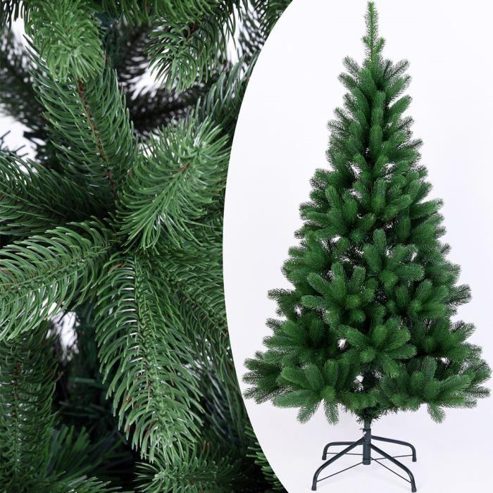Sapin de noël artificiel vert 140 cm 470 branches Sapin artificiel