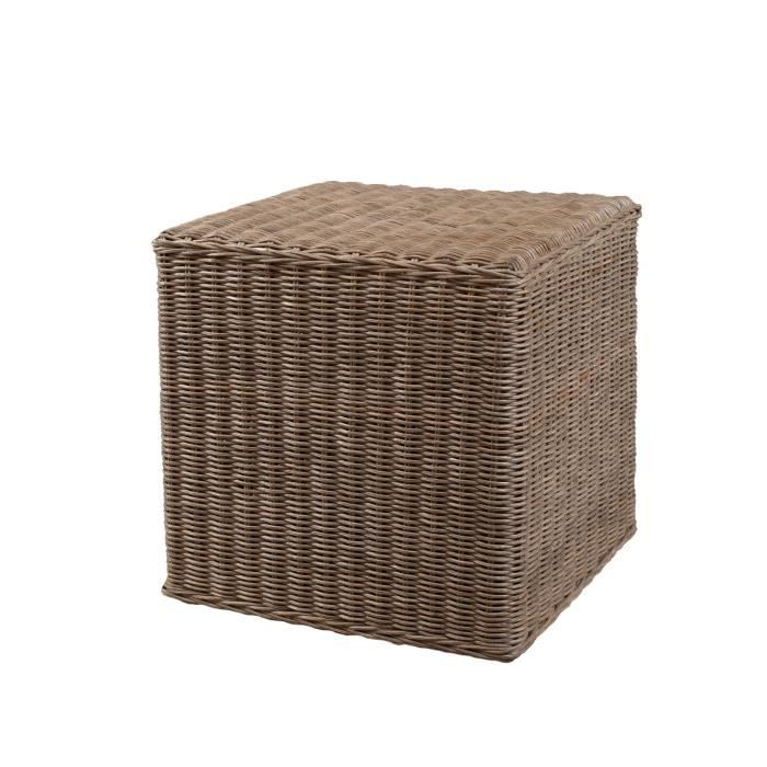 madrid pouf carr rotin achat vente fauteuil rotin cdiscount. Black Bedroom Furniture Sets. Home Design Ideas
