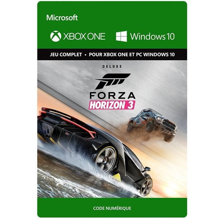 forza horizon 3 edition deluxe jeu xbox one t l charger achat vente jeux t l charger. Black Bedroom Furniture Sets. Home Design Ideas