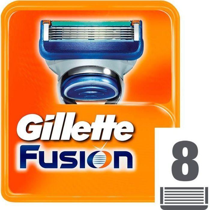 LAME DE RASOIR SEULE GILLETTE Lames Fusion Manuel - 8 pcs
