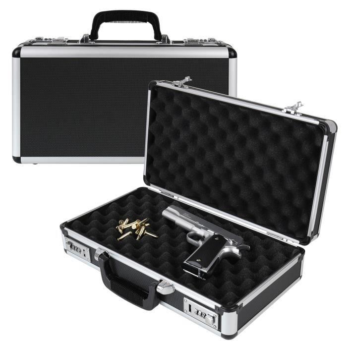 vidaXL Mallette pour arme à feu Aluminium ABS Noir