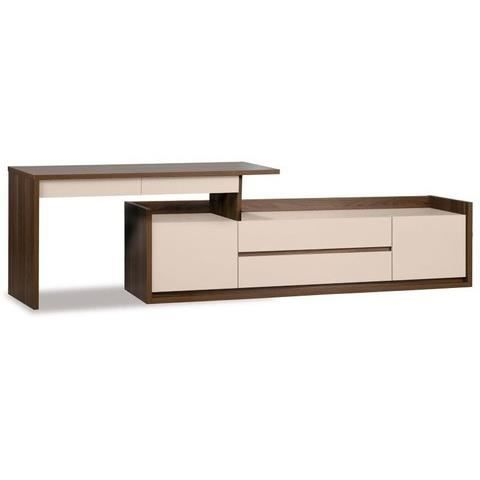 bureau design 150 inbox avec commode beige achat vente bureau bureau design 150 inbox. Black Bedroom Furniture Sets. Home Design Ideas
