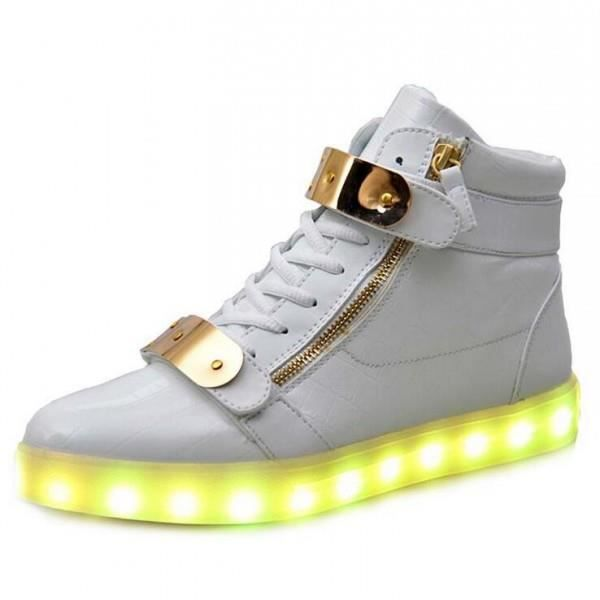 Chaussures à LED hautes lumineuse blanches pEcPZQNt