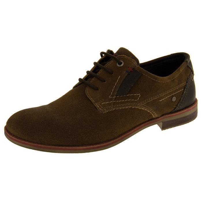 ESCARPIN S.Oliver Mens Suede en cuir Chaussures à lacets fo