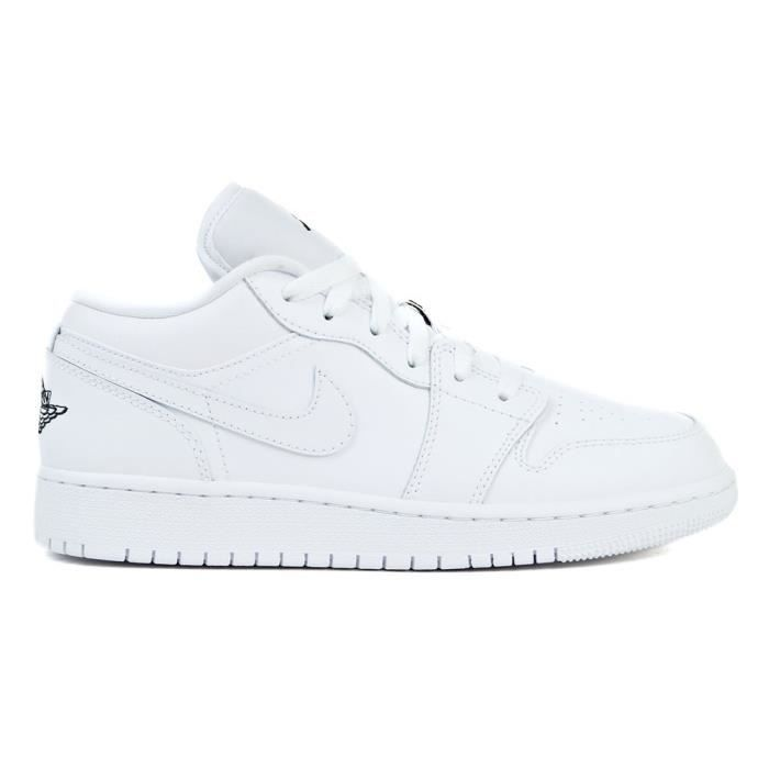 Chaussures Nike Air Jordan 1 Low BG Blanc Achat Vente