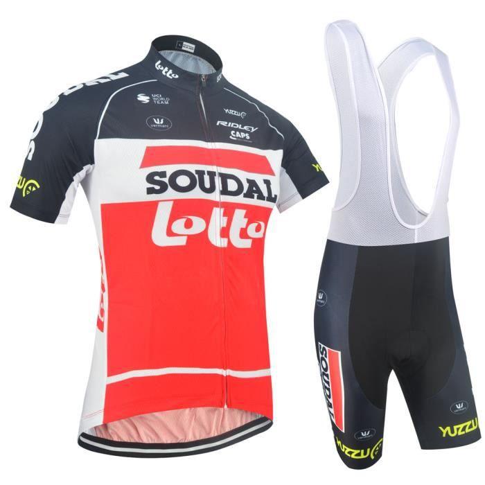 Nouveau Pro Team vélo à manches courtes Sports uniforme Hommes Maillot de cyclisme cuissard Costume