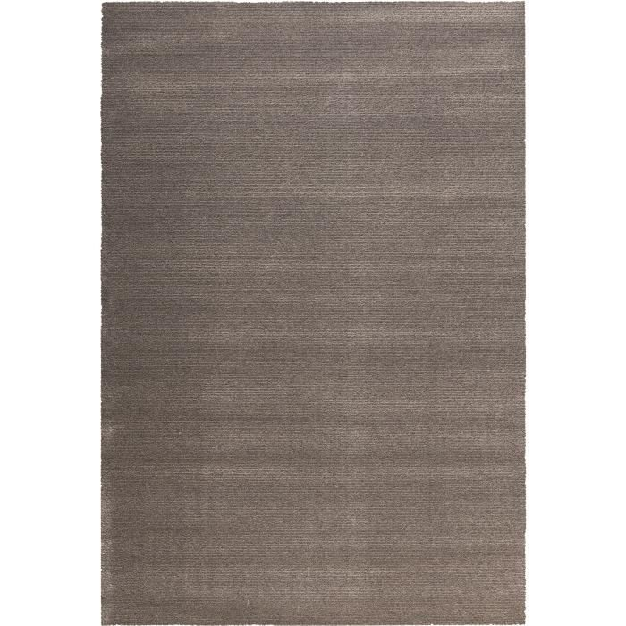 tapis de salon en laine 135x200 cm gris achat vente. Black Bedroom Furniture Sets. Home Design Ideas