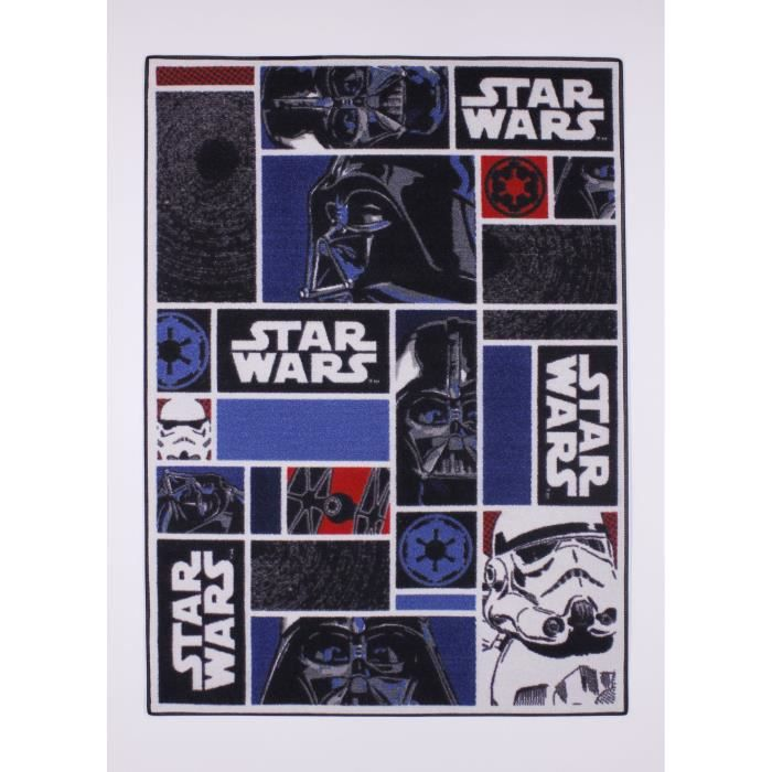star wars tapis icons 90x133cm achat vente tapis cdiscount. Black Bedroom Furniture Sets. Home Design Ideas