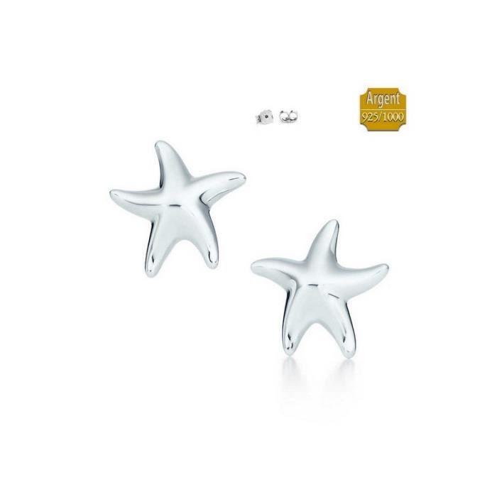 Élégant Nouvelle étoile de mer Collier Magnifiquement Fabriqué en argent sterling 925